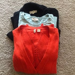 Anthropologie/ Loft / pink republic sweater bundle
